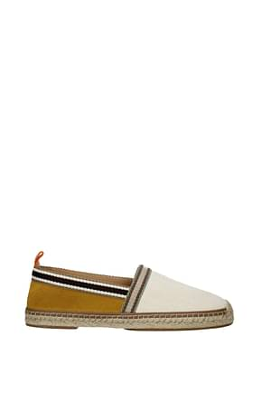 Fendi Espadrilles Men Fabric  Beige Mustard