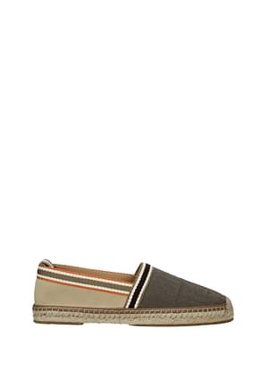 Fendi Espadrilles Men Fabric  Brown Petal