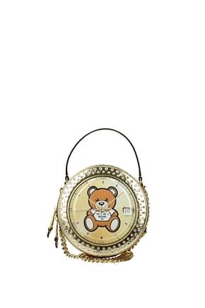 Moschino Handbags Women Leather Gold