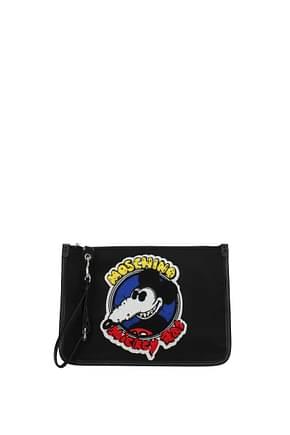 Moschino Clutches Women Fabric  Black