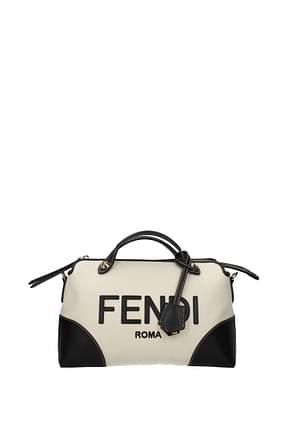 Fendi Handbags by the way Women Fabric  Beige Black