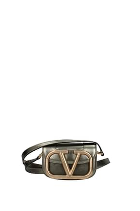 Valentino Garavani Crossbody Bag vlogo Women Leather Gray