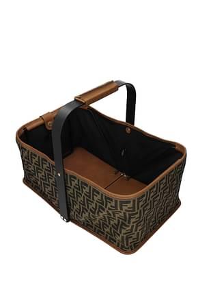 Fendi Gift ideas picnick bag 1974 Women Fabric  Brown Brown