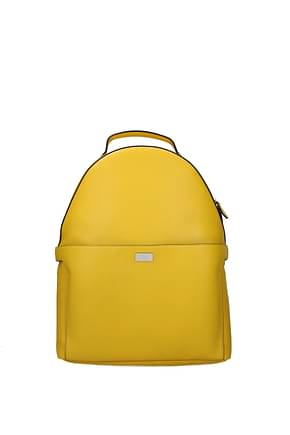 Fendi Backpack and bumbags Men Leather Yellow