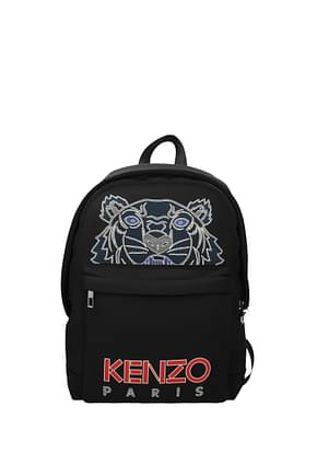 Kenzo Backpack and bumbags Men Fabric  Black Red
