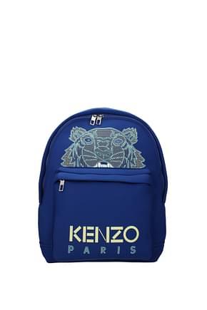 Kenzo Sacs à dos et Bananes Homme Tissu Bleu Jaune