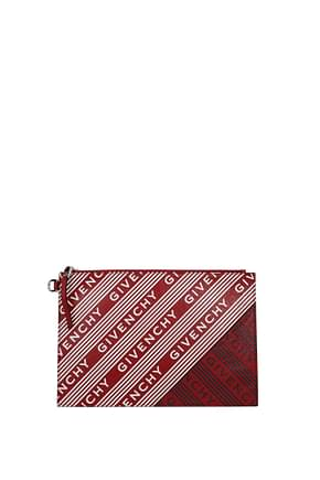 Givenchy Clutches Men Leather Red