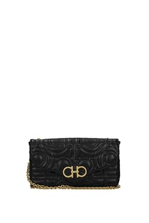 Salvatore Ferragamo Crossbody Bag Women Leather Black