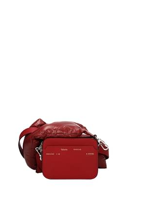Moncler Crossbody Bag valextra Women Leather Red