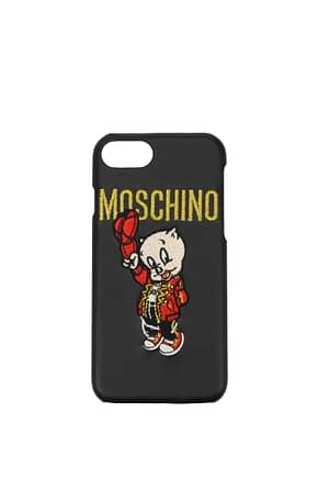 Moschino iPhone cover iphone 6/6s/7/8 Women Acetate Black