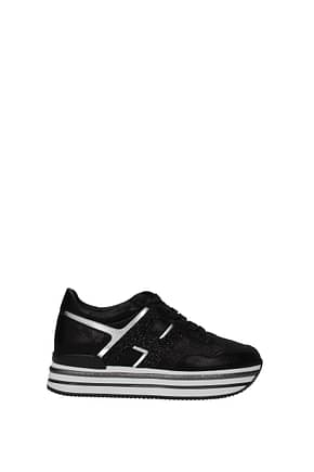 Hogan Sneakers h468 Women Suede Black