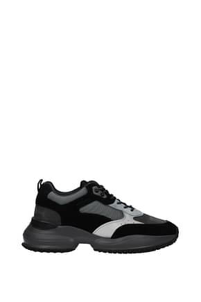 Hogan Sneakers interaction memory foam Men Suede Gray Black