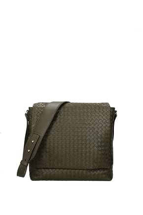Bottega Veneta Crossbody Bag Men Leather Green