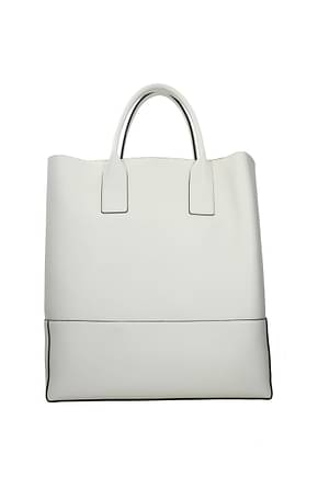 Bottega Veneta Travel Bags Men Leather White