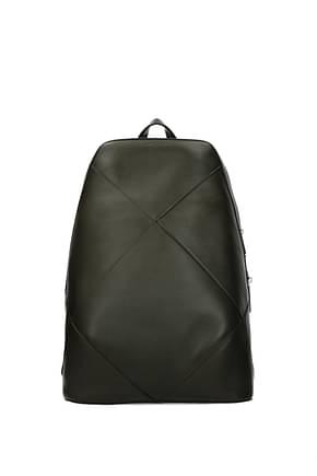 Bottega Veneta Backpack and bumbags Men Leather Green