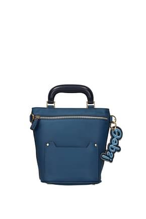 Anya Hindmarch Handbags orsett Women Leather Blue