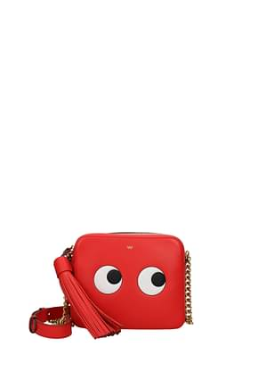 Anya Hindmarch Borse a Tracolla eyes right Donna Pelle Rosso