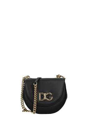 Dolce&Gabbana Crossbody Bag wifi Women Leather Black