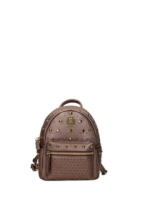MCM Backpacks and bumbags Women Leather Pink