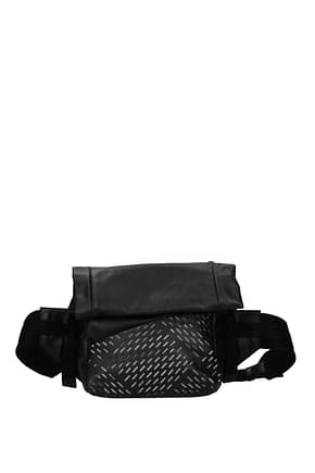 Bottega Veneta Backpack and bumbags Men Leather Black
