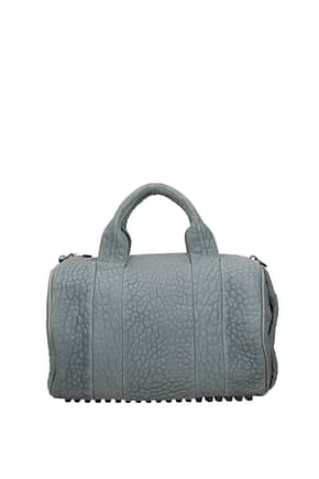 Alexander Wang Handbags Women Leather Gray Mercury
