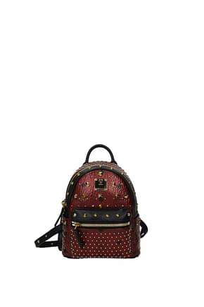 MCM Backpacks and bumbags Women Leather Red