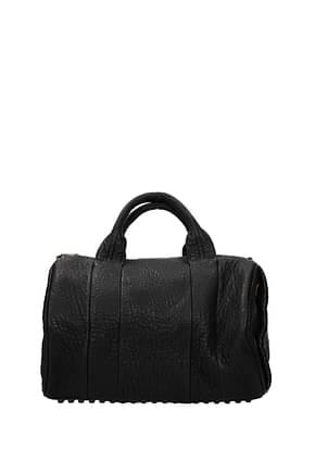 Alexander Wang Handbags Women Leather Black Bronze