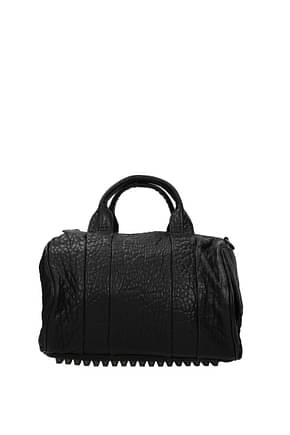 Alexander Wang Handbags Women Leather Black Dark Grey