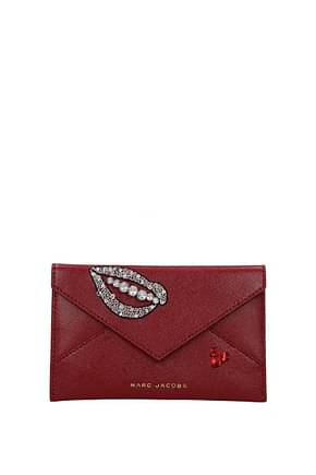 Marc Jacobs Document holders Women Leather Red