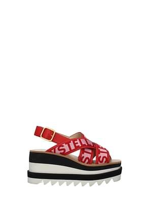 Stella McCartney Sandals Women Fabric  Red