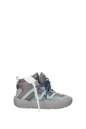 Off-White Sneakers Femme Tissu Violet Bleuet