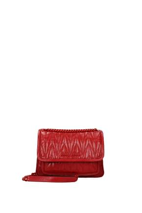 Miu Miu Shoulder bags Women Leather Red