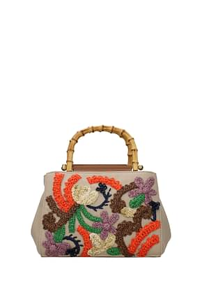 Miu Miu Handbags Women Hemp Beige