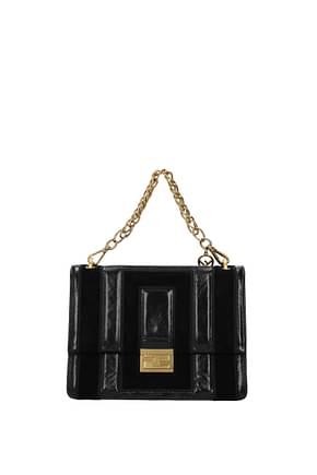 Fendi Handbags kan Women Leather Black