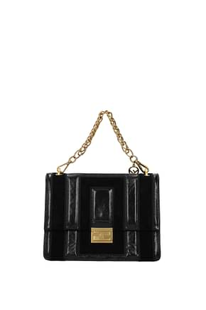 Fendi Handbags kan Women Leather Black
