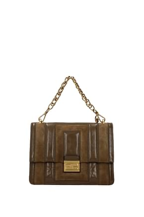 Fendi Handbags kan Women Leather Brown