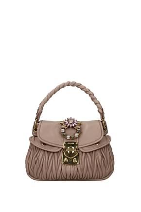 Miu Miu Handtaschen matelasse Damen Leder Rosa