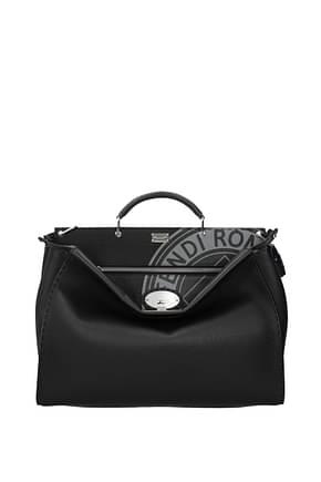 Fendi Handbags peekaboo selleria Men Leather Black