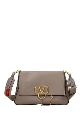 Valentino Garavani Crossbody Bag Women Leather Gray