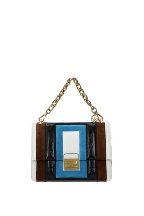 Fendi Handbags kan u  Women Leather White Sea