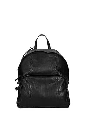 Prada Backpack and bumbags Men Leather Python Black