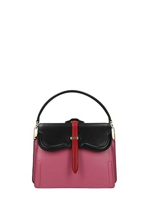 Prada Handbags Women Leather Pink