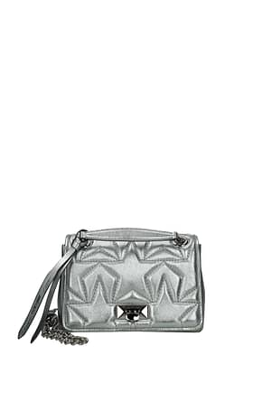 Jimmy Choo Shoulder bags helia Women Leather Gray Anthracite