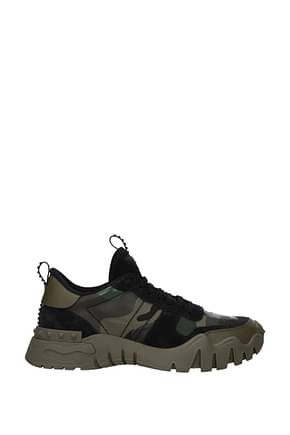 Valentino Garavani Sneakers rockrunner Men Leather Black Camouflage Green