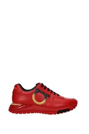 Salvatore Ferragamo Sneakers brooklyn Homme Cuir Rouge