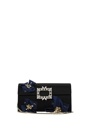Roger Vivier Clutches Women Satin Black