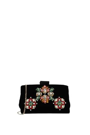 Roger Vivier Clutches Women Velvet Black