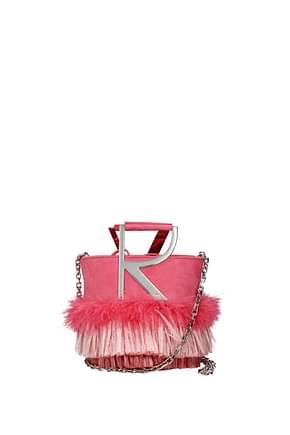 Roger Vivier Bolsos de mano Mujer Gamuza Rosa
