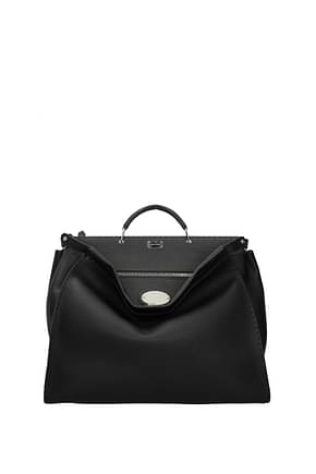 Fendi Handbags peekaboo selleria Men Leather Black