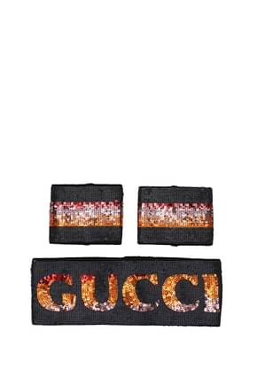 Gucci Accessori per Capelli band and wristband Donna Tessuto Nero